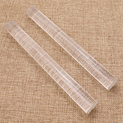 Pomeat 2 Pack Acrylic Clay Roller Rolling Clay Bar Roll Stick Rod Rolling Pin for Shaping and Sculpting, 7.9 inch