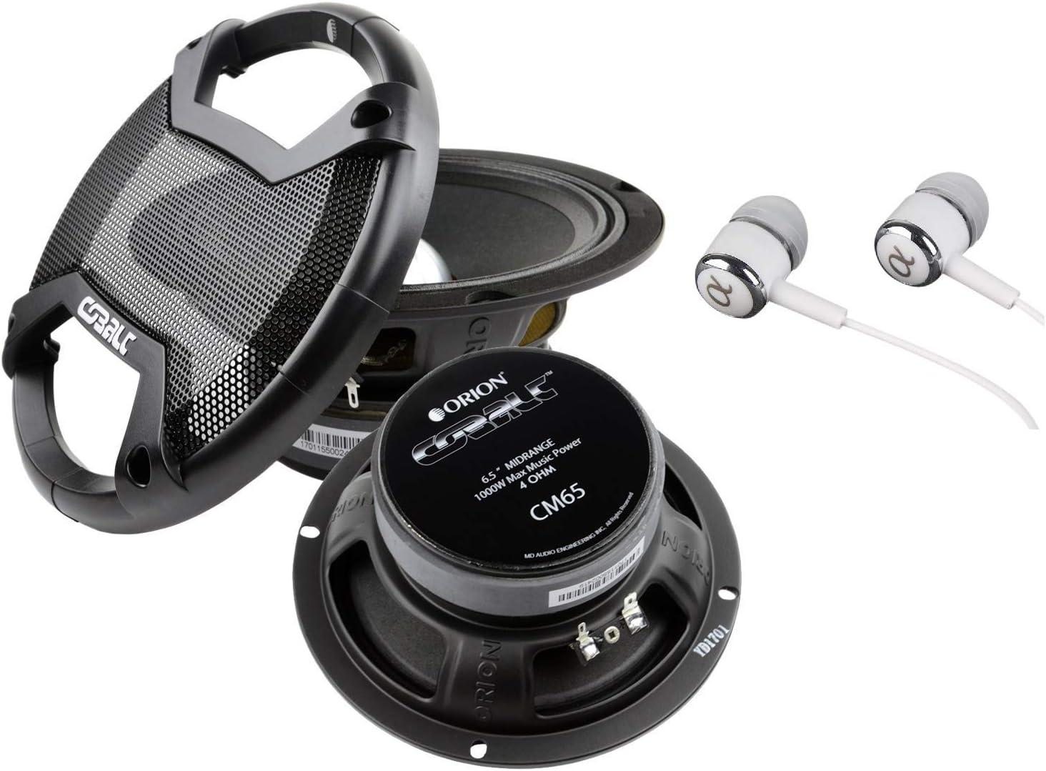 New Pair Of Orion Cobalt Cm65 1000 Watt 4-Ohm Loud Car Audio High Efficiency Mid-Range Speakers