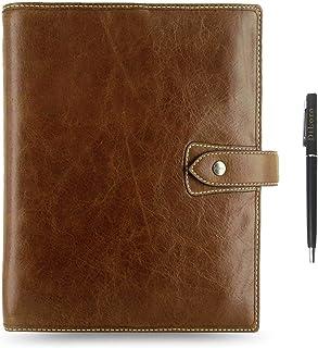 "$149 » Filofax Malden Leather Organizer Agenda Calendar Bundle with DiLoro Ballpoint Pen (Ochre 2020+2021 with Pen, A5 Paper Size 8.26"" x 5.82"")"