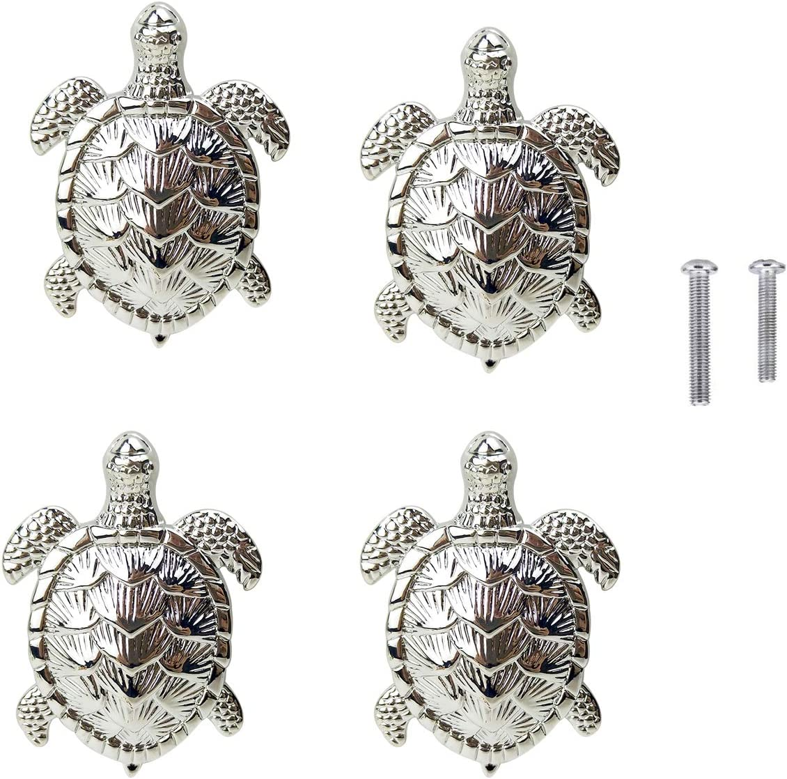 4 Turtle Door Knobs