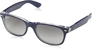 RB2132 New Wayfarer Polarized Sunglasses, Blue On...