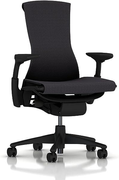 Herman Miller Embody Chair: Fully Adj Arms - Graphite Frame/Base - Standard Carpet Casters
