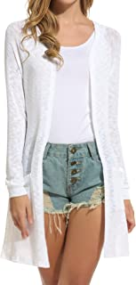 Women's Cardigan Sweater, Loose Casual Open Front with...