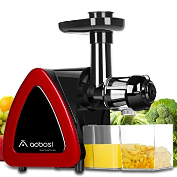 Aobosi Juice Extractor With Quiet Motor And Reverse Function Masticating Juicer