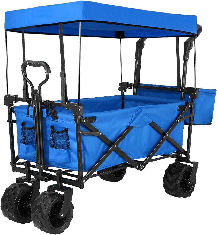 Sekey Folding Wagon Cart Collapsible Outdoor Utility Wagon
