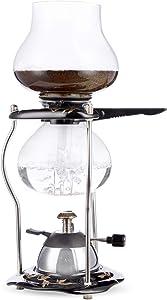 Yama-Glass-Tabletop-w/Ceramic-Base-(20oz)-5-Cup-Coffee-Siphon-with-Butane-Burner