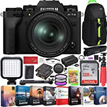 $2199 » Fujifilm X-T4 Mirrorless Digital Camera 4K IBIS Body and Fujinon XF 16-80mm F4 R OIS WR Lens Kit (Black) Bundle with Deco Gear Photography Backpack + Photo Video LED Light + 128GB Card + Software