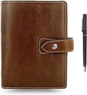 "$79 » Filofax Malden Leather Organizer Agenda 2020 Calendar Bundle with DiLoro Ballpoint Pen (Ochre 2020 with Pen, Pocket Paper Size 4.72"" x 3.18"")"