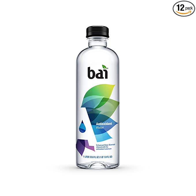 Bai Antioxidant Water, Alkaline Water, Infused with the Antioxidant Mineral Selenium, Purified Water