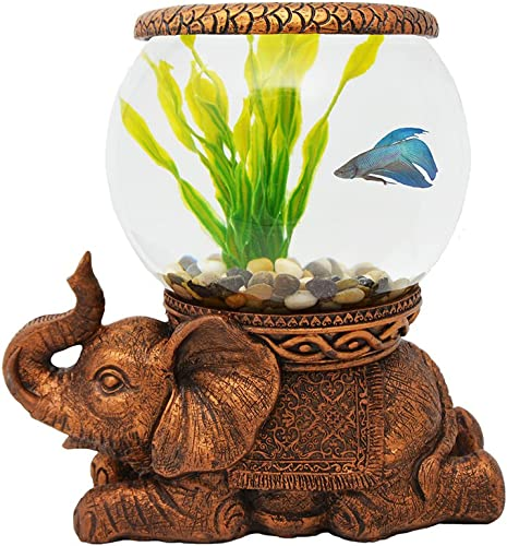 THE-NIFTY-NOOK-1-Gallon-Glass-Fish-Bowl-with-River-Rocks