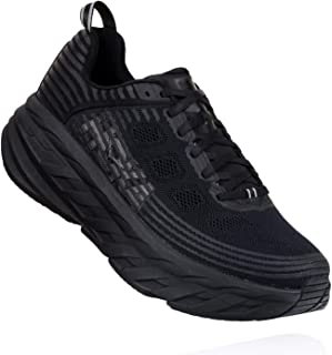HOKA ONE ONE Womens Bondi 6 Black/Black Running Shoe - 7.5