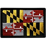 """Maryland State Flag Tactical Patch [""""Velcro Brand"""" Fastener - 3.0 X 2.0 -MF-1]"""