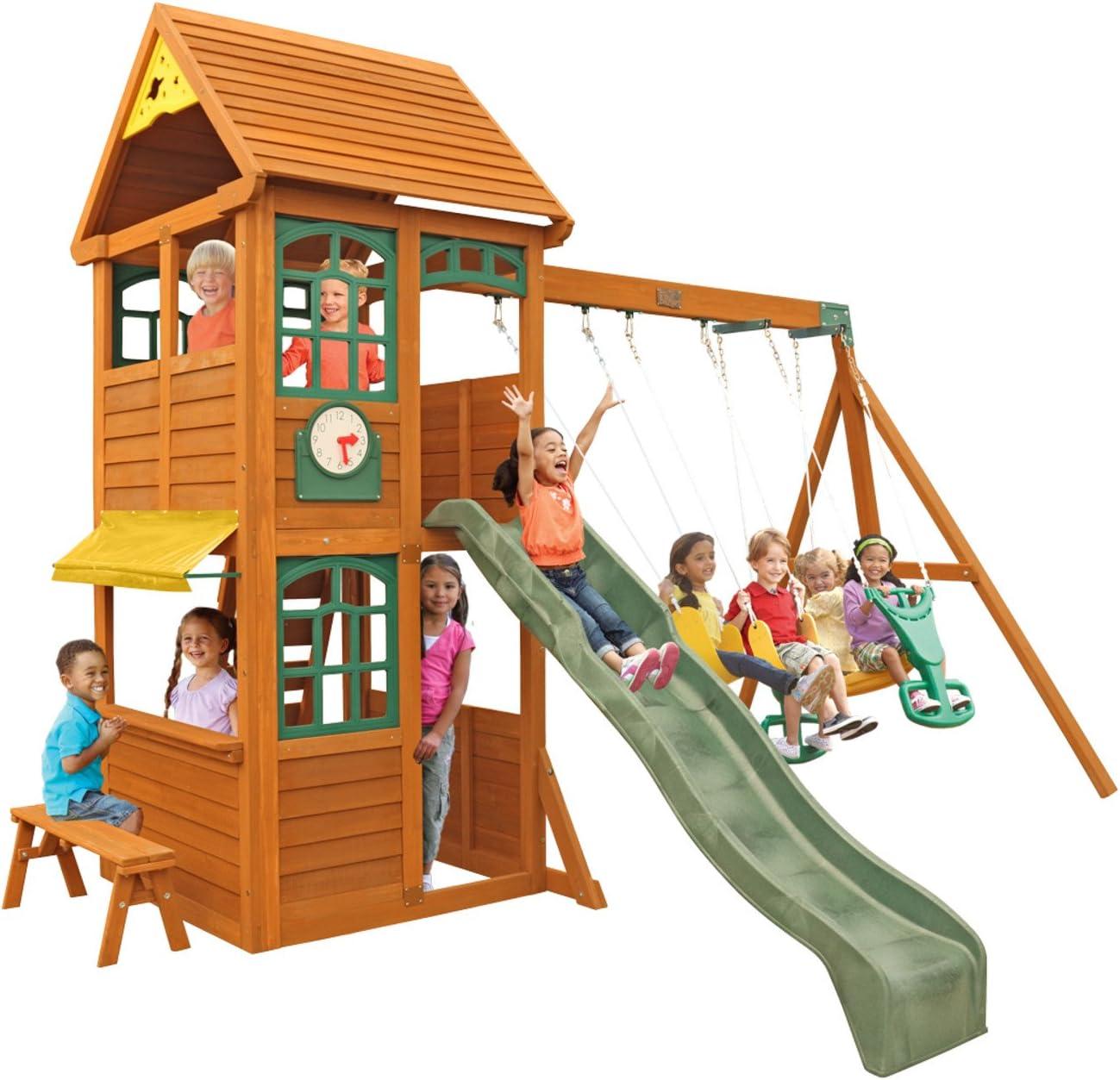 KidKraft Brooksville Cedar Wood Swing Set / Playset
