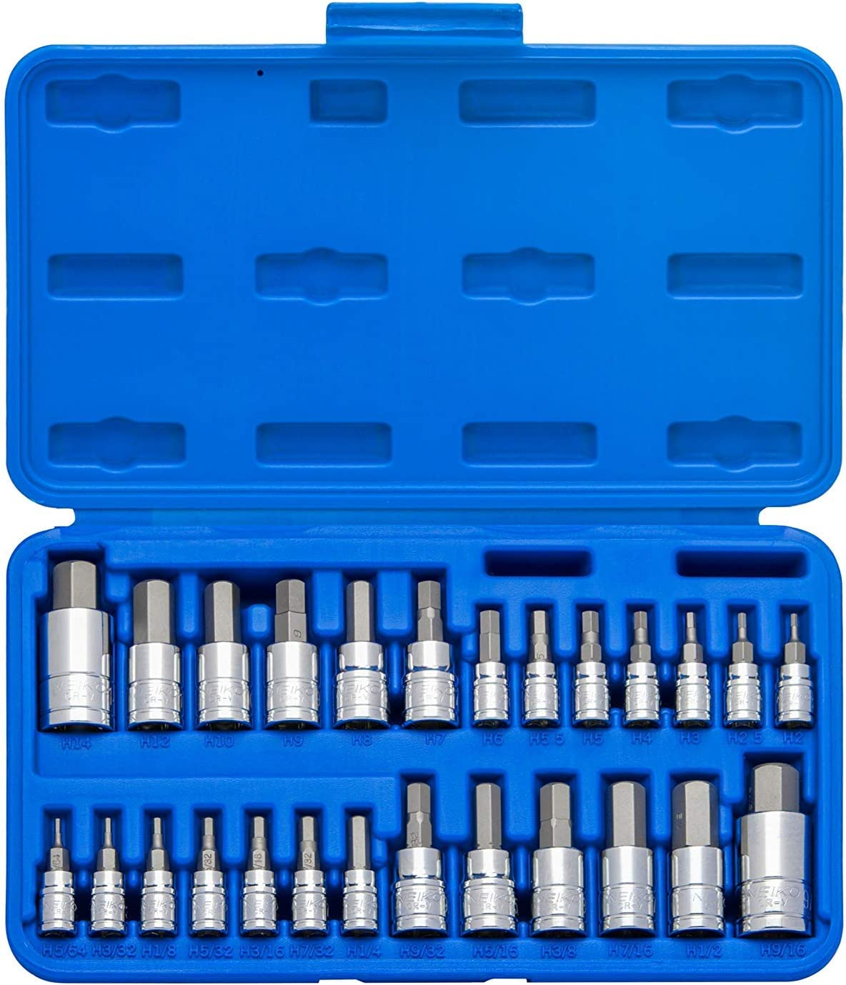 Neiko 01144A Tamper-Proof Hex Bit Socket Set