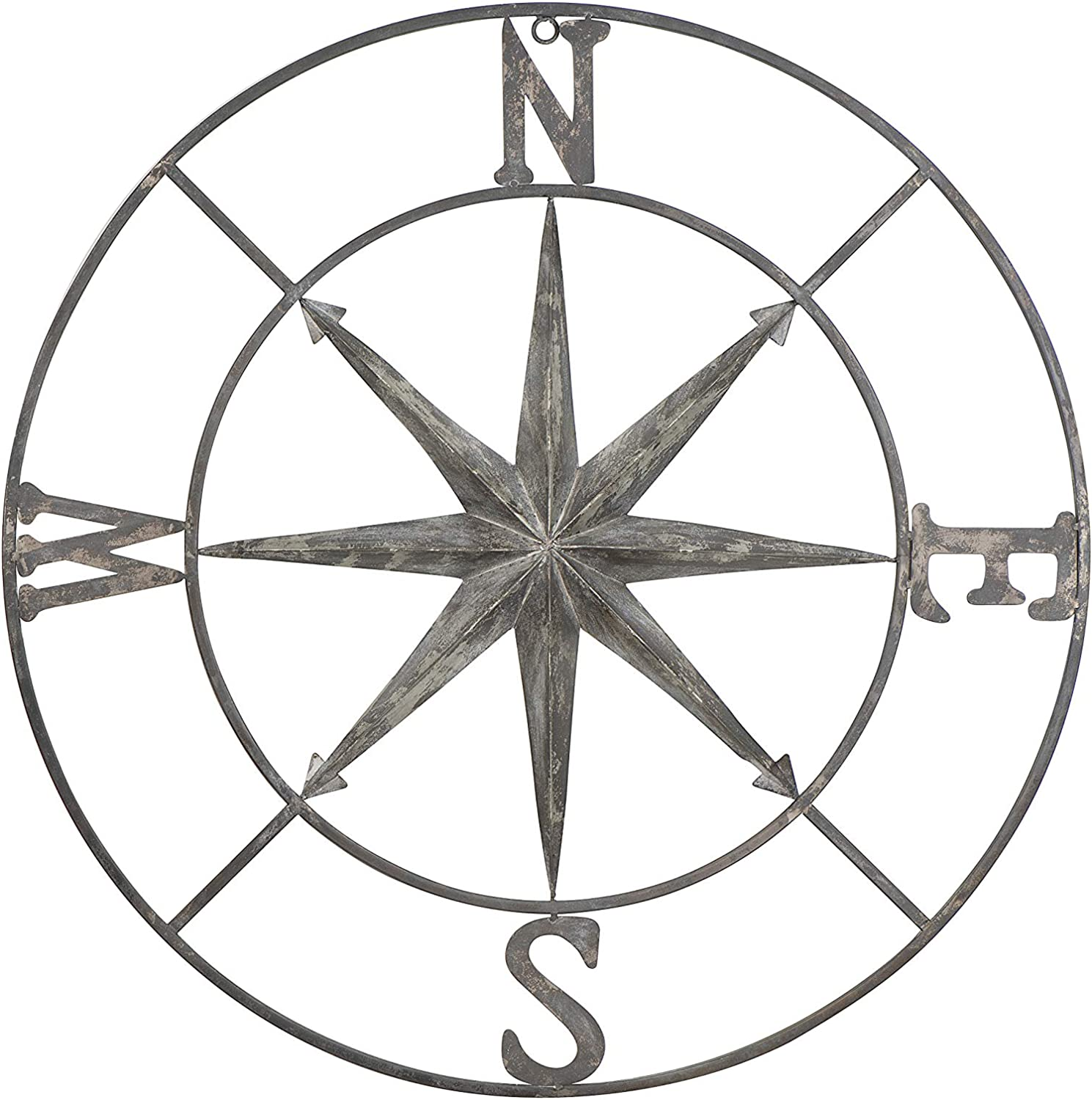 Creative Co-op Decorative Round Metal Compass Wall Décor, 41″