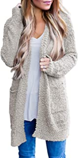 Women's Long Sleeve Soft Chunky Knit Sweater Open Front...