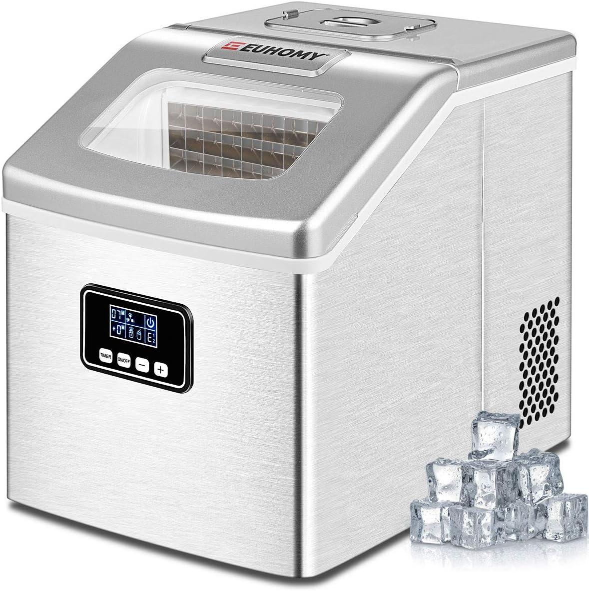 Euhomy 40lbs Portable Countertop Ice Maker