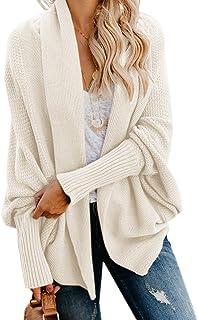 Womens Kimono Open Front Cardigan Sweaters Batwing Sleeve...