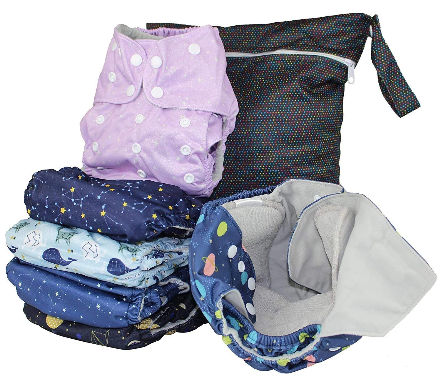 Simple, reusable cloth diapers for kids.