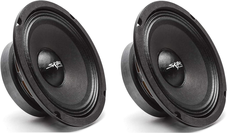 Skar Audio FSX65-8 300-Watt 6.5-Inch 8 Ohm MID-Range Loudspeakers