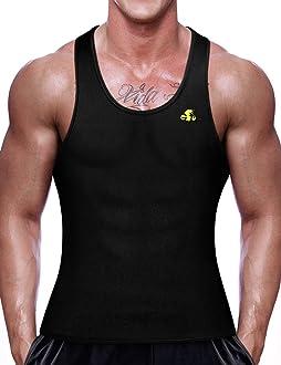 NonEcho Men Sauna Vest Neoprene Sweat Weight Loss Waist Trainer Shirt Workout Tank Top