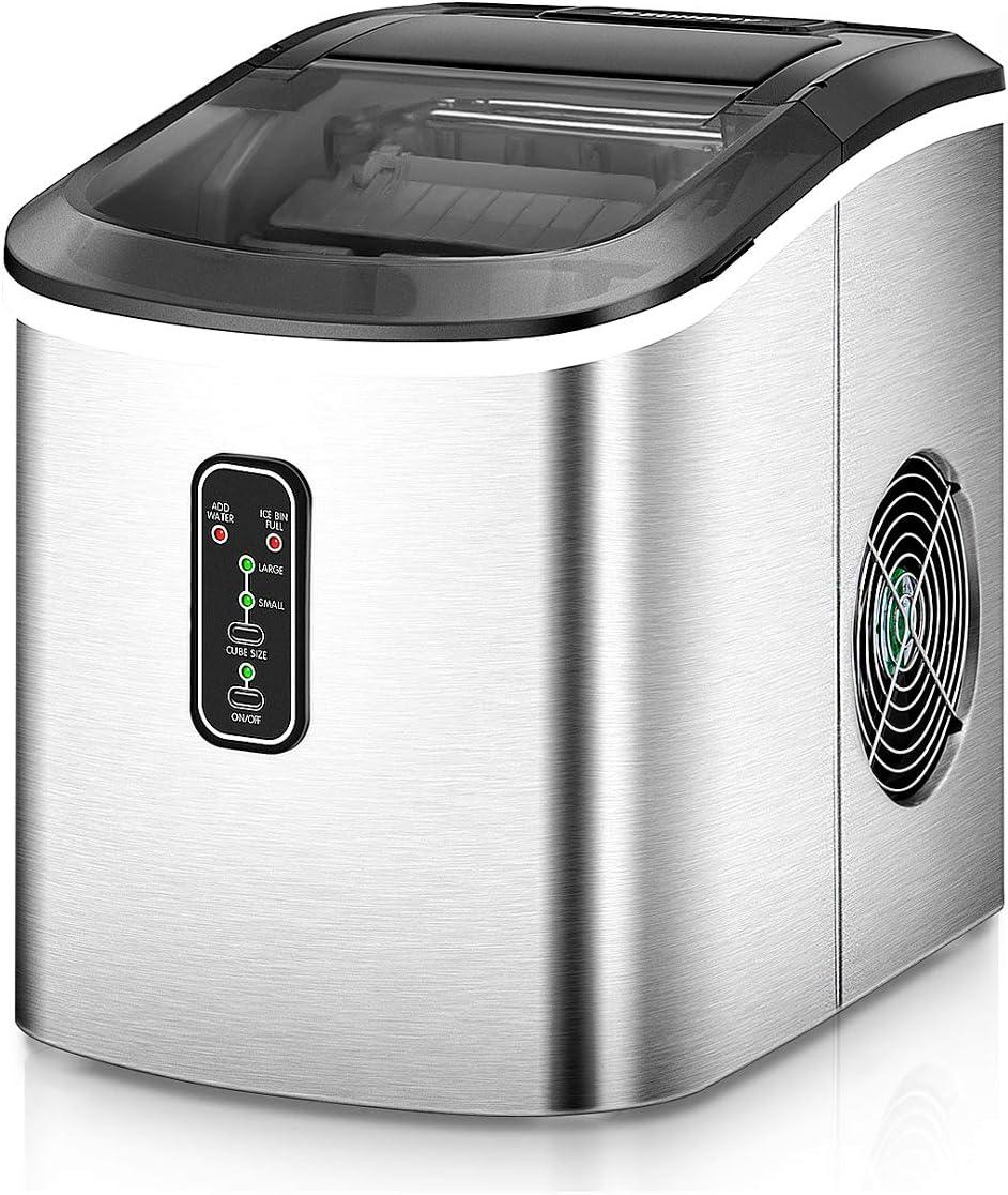 Euhomy 26 lbs Portable Countertop Ice Maker