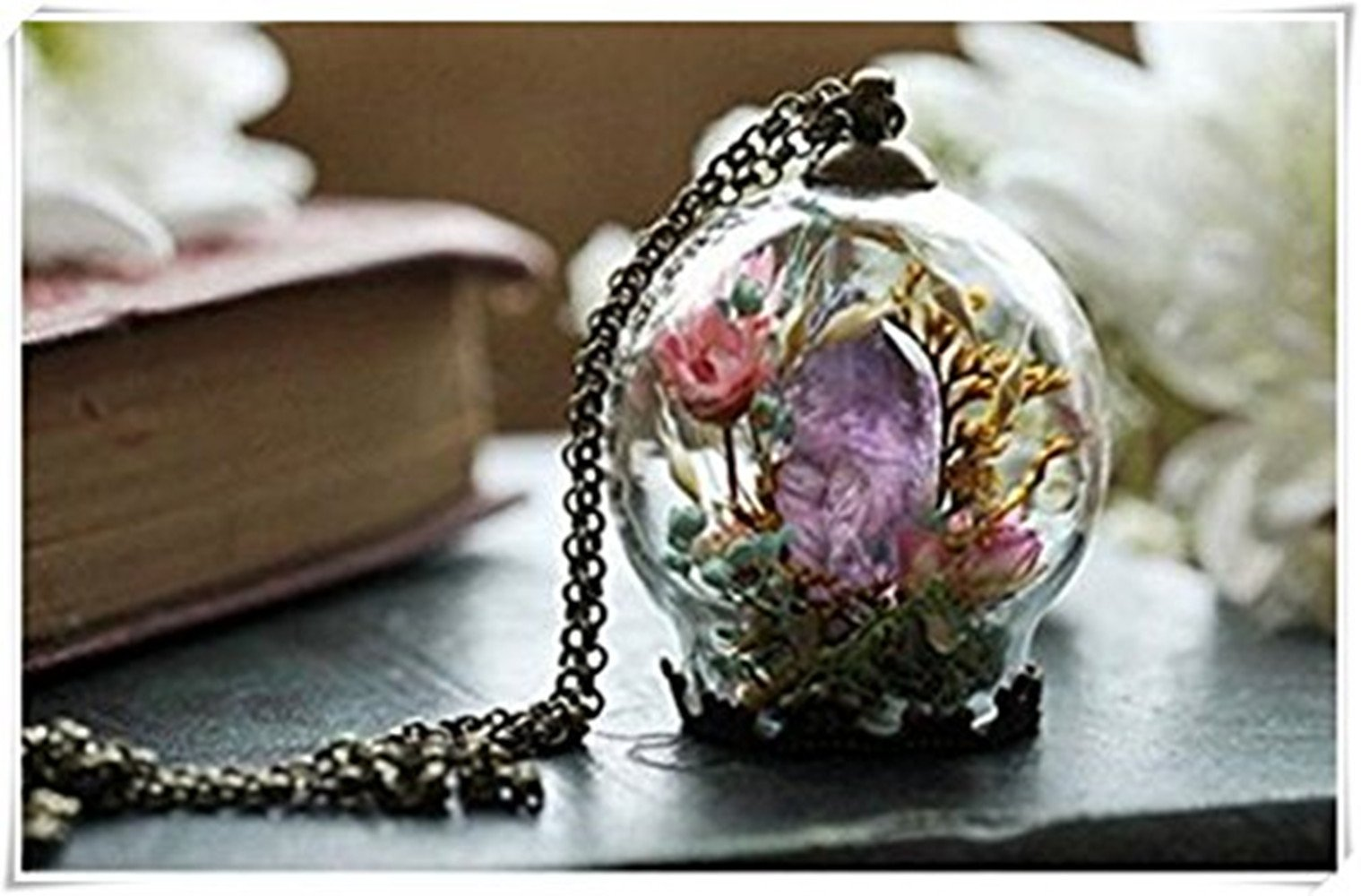 One Life One Jewerly Amethyst Crystal Necklace Crystal Terrarium Necklace Quartz Point Raw Amethyst Purple Amethyst Green Moss Terrarium Gifts For Her Buy Online In Faroe Islands At Faroe Desertcart Com Productid 69338048