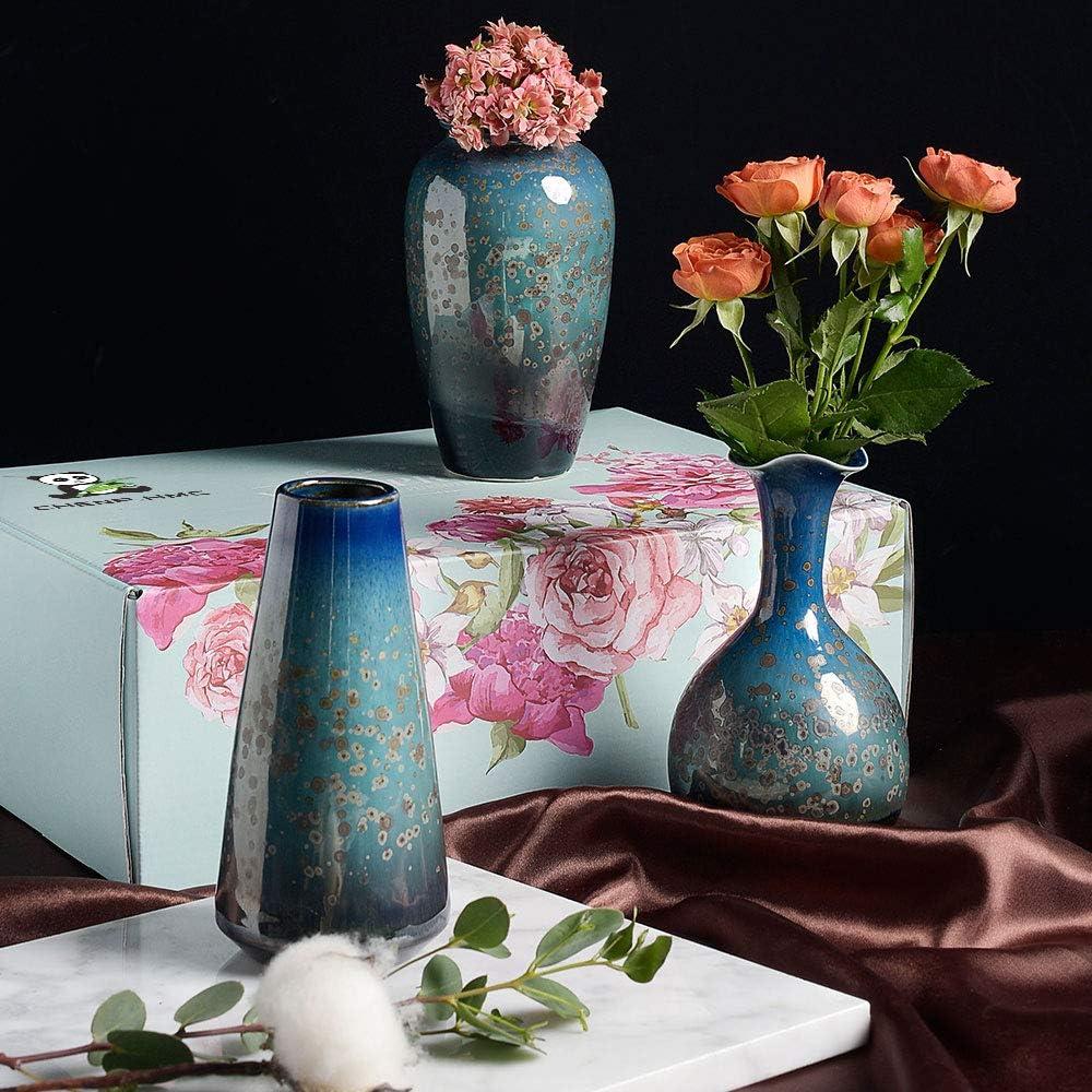 Ceramic Flower Vases Set of 3