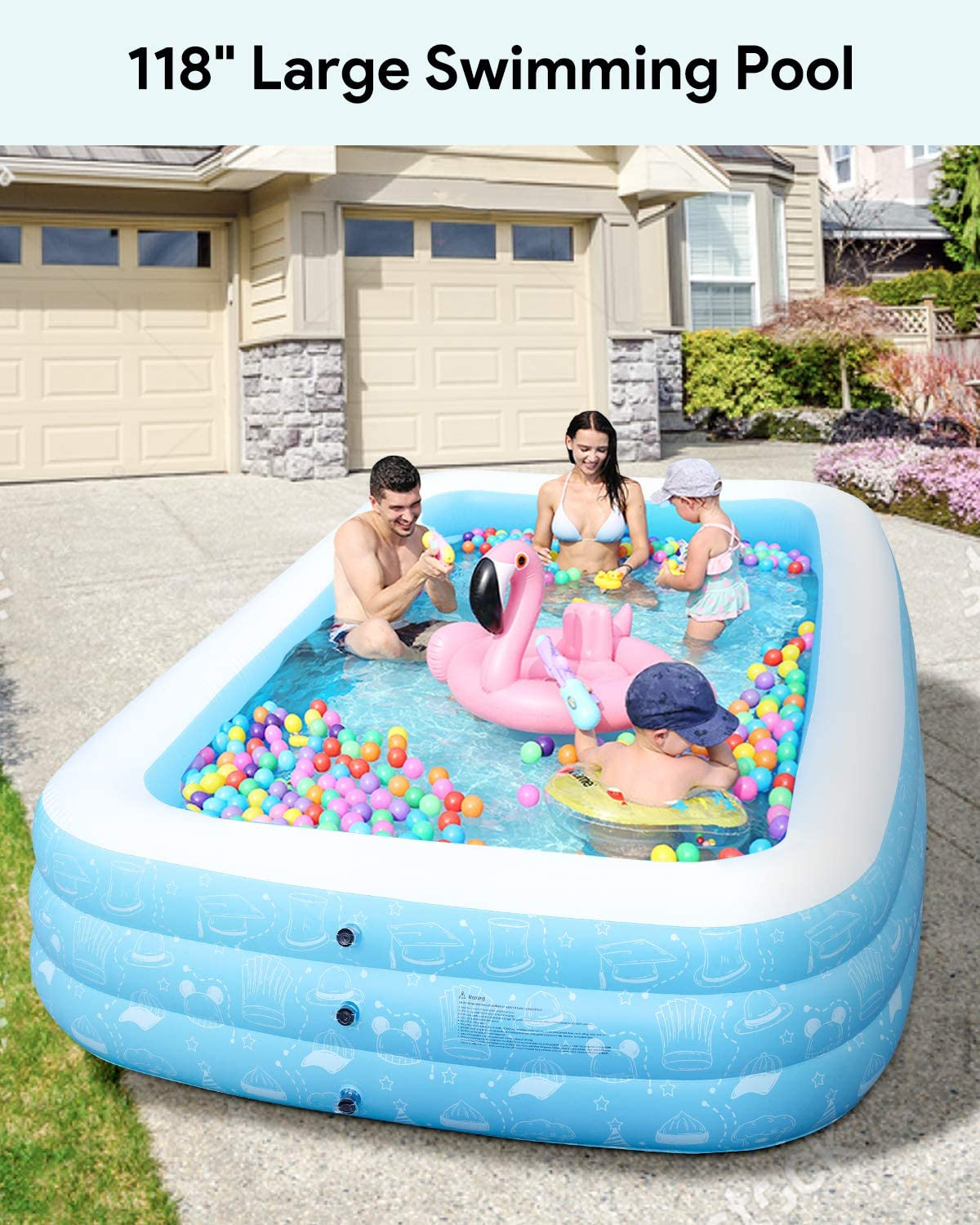 Freedom Series Large Inflatable Pool