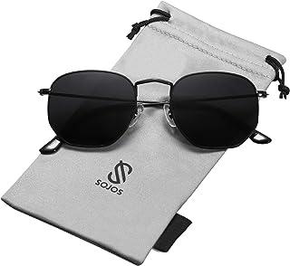 Small Square Polarized Sunglasses for Men and Women...