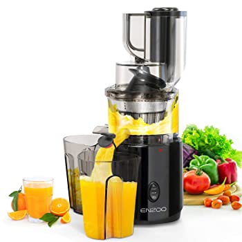 ENZOO Slow Cold Press Juicer Extractor With Reverse Button Masticating Juicer