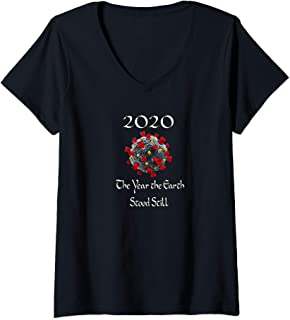 Womens The Year the Earth Stood Still V-Neck T-Shirt