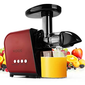 KOIOS Juicer With Reverse Function, Quiet Motor Masticating Juicer