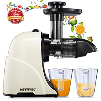 Hethtec Slow Cold Press Juicer With Quiet Motor And Reverse Function Masticating Juicer