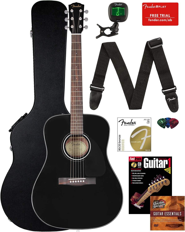 Fender Cd-60 Dreadnought Acoustic Guitar Bundle