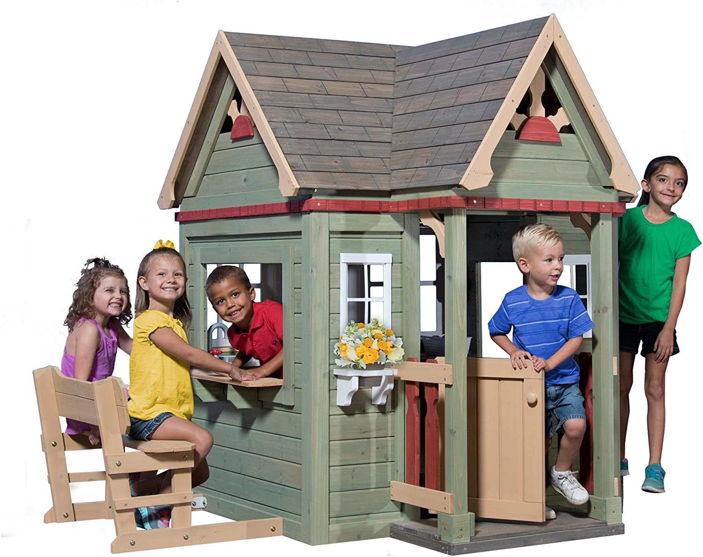 Backyard Discovery Victorian Inn All Cedar Outdoor Wooden Playhouse