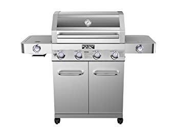 Monument Grills Clearview Lid Propane Gas Grill