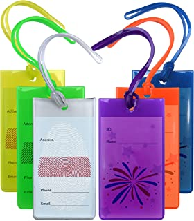 6 Pack Luggage Tags for Suitcases, Travel Luggage ID Tag