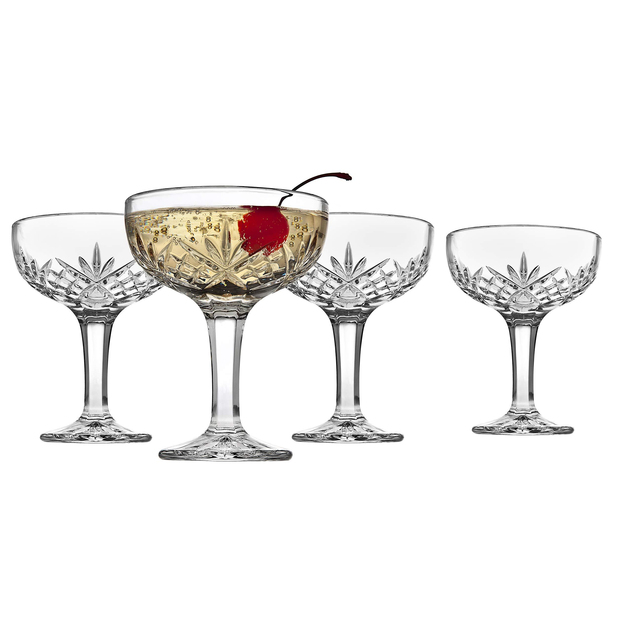 Godinger Champagne Coupe Barware Glasses Set Of 4 Dublin Crystal Collection Buy Online In Bahamas At Bahamas Desertcart Com Productid 88309907