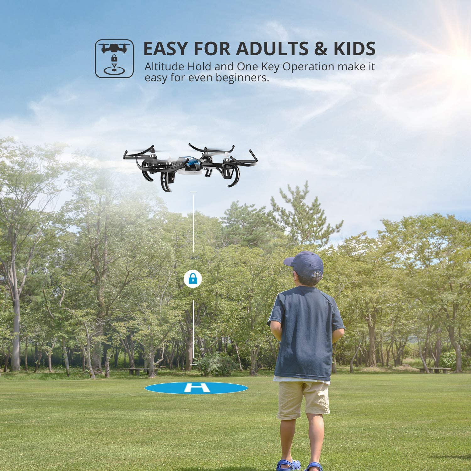 Holy Stone HS170 Predator is at #1 for the best quadcopter for beginner.