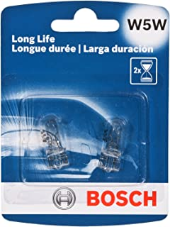 Bosch W5W Long Life Upgrade Minature Bulb, Pack of 2