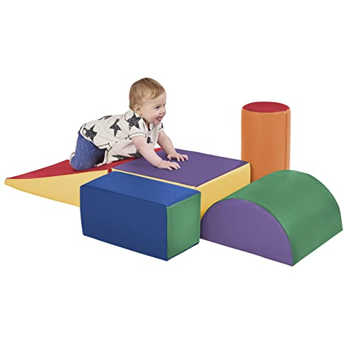 ECRAKids SoftZone Climb and Crawl Activity Play Set multicolored and 5 different shapes