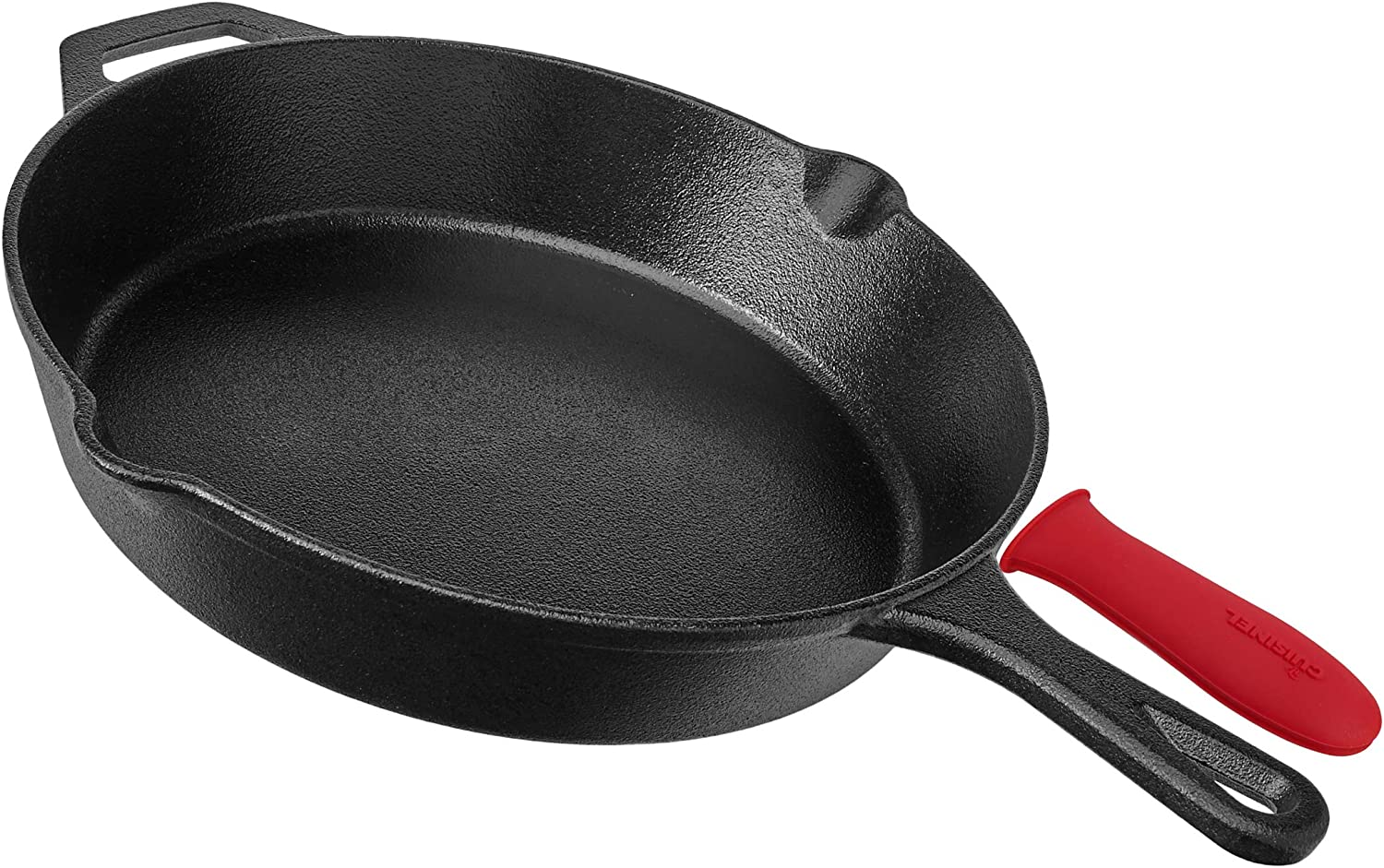 cast iron pan with handle shield