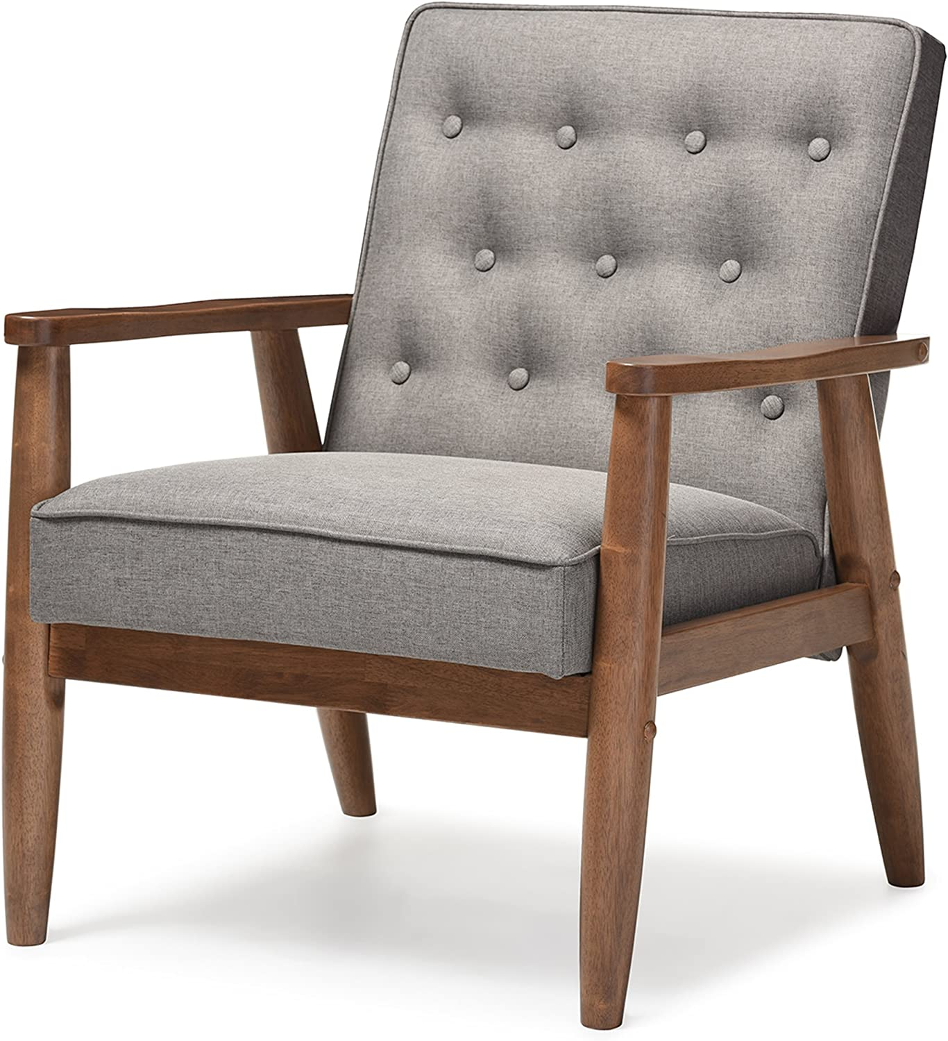 Mid-Century Wooden Lounge Chair