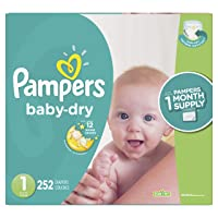 Deals on 252-Ct Pampers Baby Dry Disposable Baby Diapers Newborn/Size 1