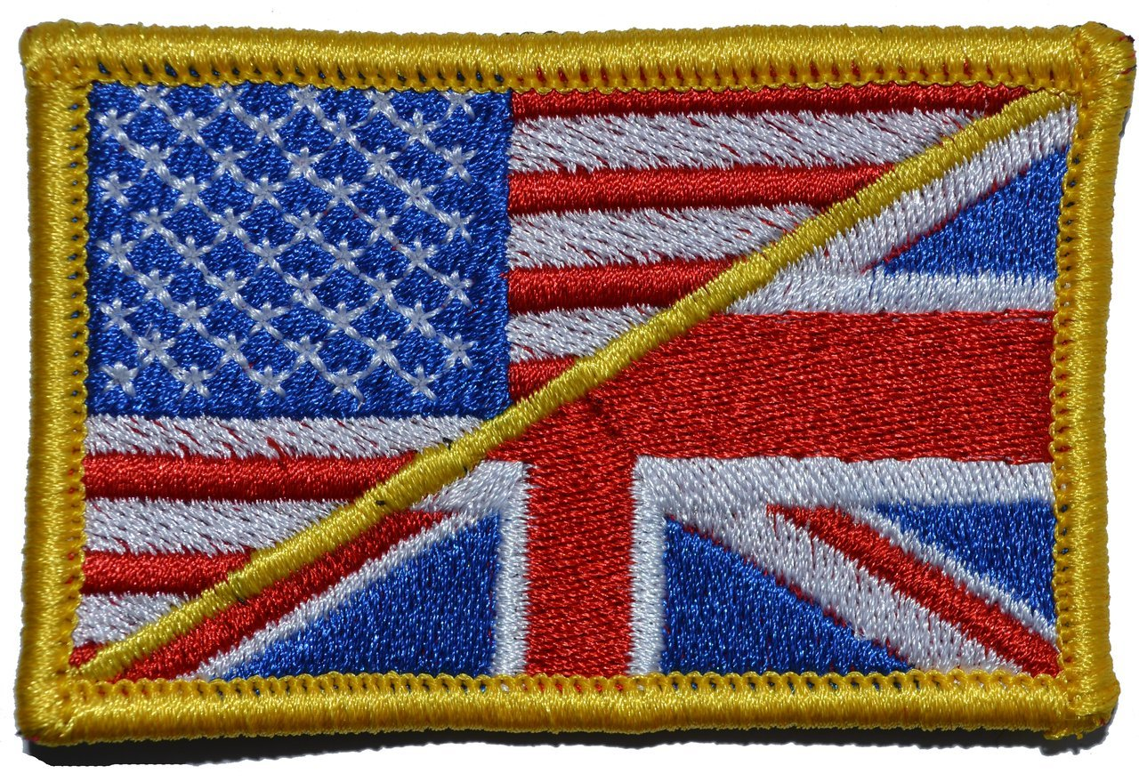 UK Flag Subdued British Usa Flag hook fastener Patch MTB1 Usa