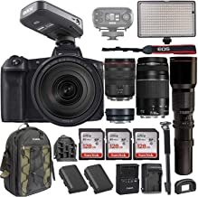 $3134 » Canon EOS R Mirrorless DSLR w/RF 24-105mm f/4L USM Lens +EF 75-300mm+ RODELink Filmmaker Kit Wireless Omni Lavalier Microphone System + Professional Bi-Color LED Video Light & Accessories (Renewed)
