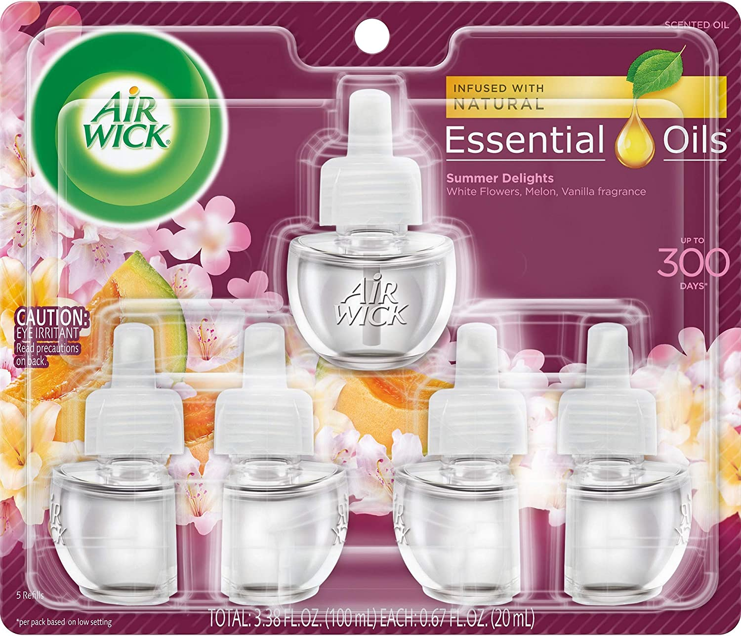 Air Wick plug in Scented Oil 5 Refills, Summer Delights