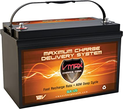 Vmaxtanks VMAXSLR125 12V Rechargeable Deep Cycle Battery