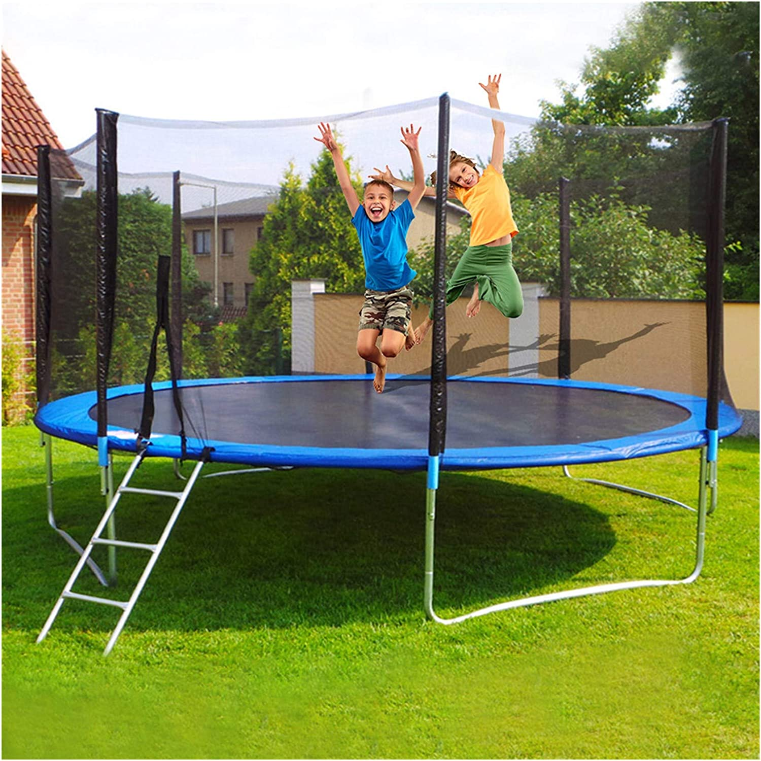 WAFamily 12 ft Round Trampoline Jumping Table with Safety Enclosure
